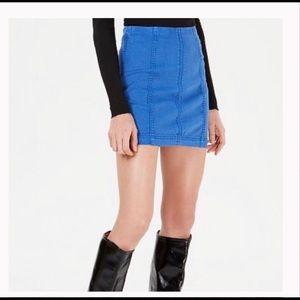 NWT Free People Denim Mini Skirt